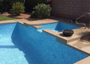 Sun City Pool & Spa Remodel Two Color Arctic Mix Tile