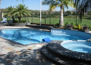 Orange County Pool & Spa Remodel, Single Color, Thick Tile