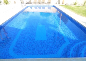 Rancho Mirage Pool Remodel, Bottom Accent Features