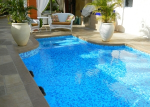 North Palm Springs Pool and Spa Remodel, 3 Color Mix Tile