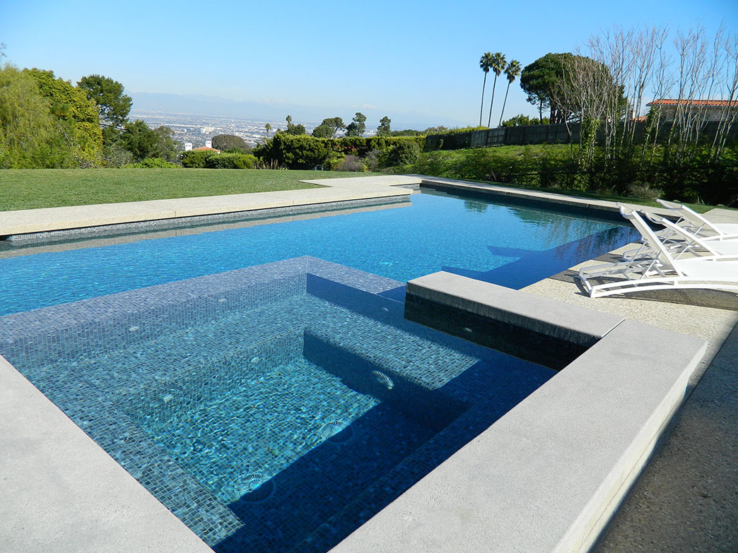 Palos Verdes Estates Pool & Spa Remodel, Infinity Edge Spa