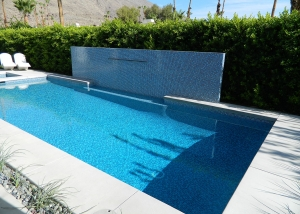 South Palm Springs Pool & Spa Remodel, Water Feature Wall